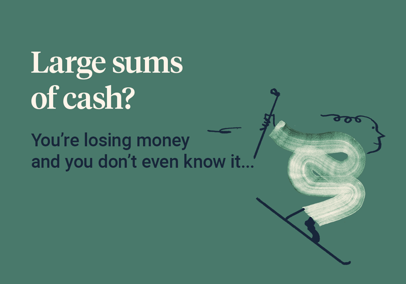 Large sums of cash