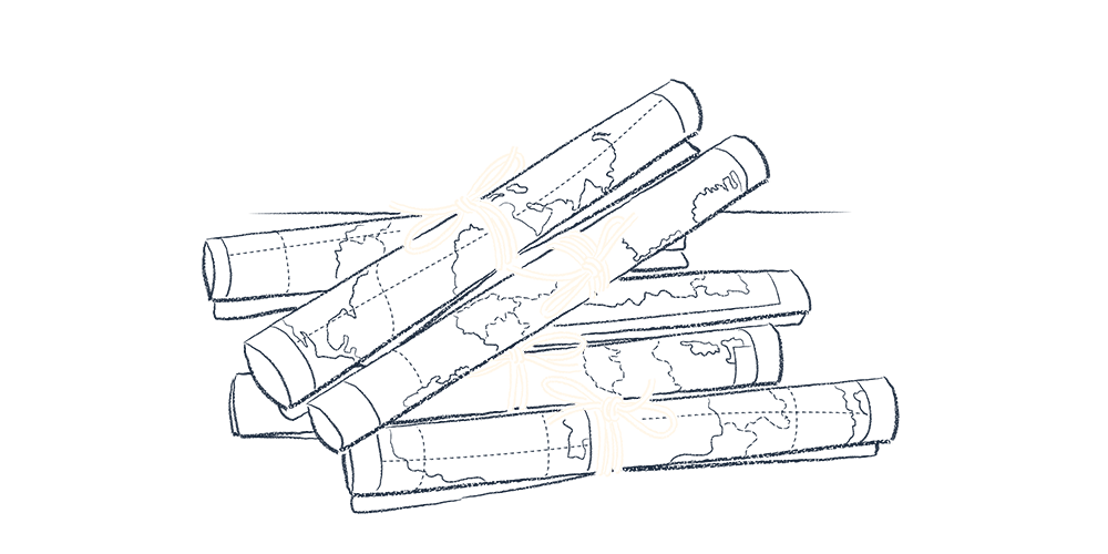 An illustration of pile of maps